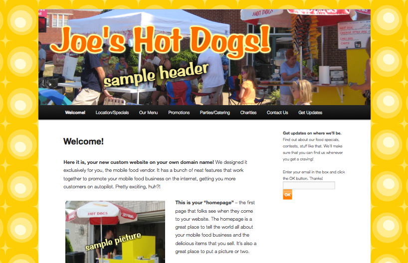 Free Hot Dog Cart Website