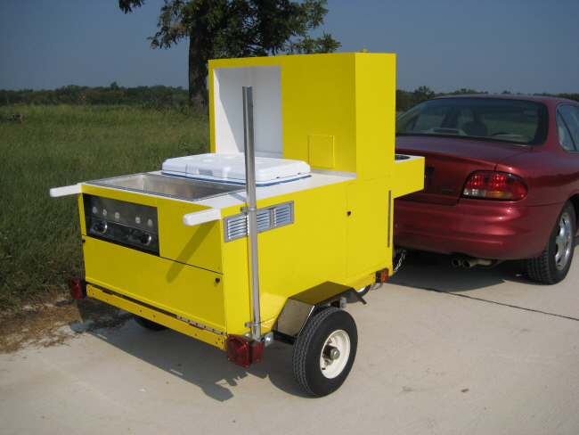 E-Z Built hot dog cart