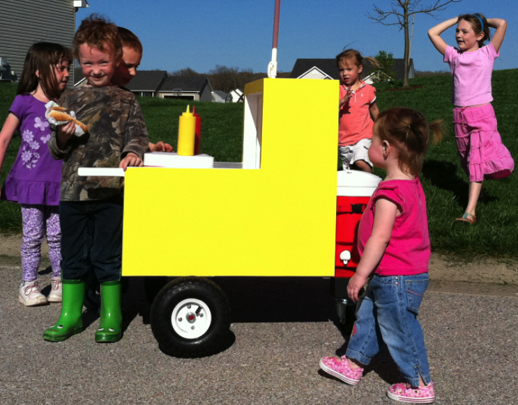 toy hot dog cart