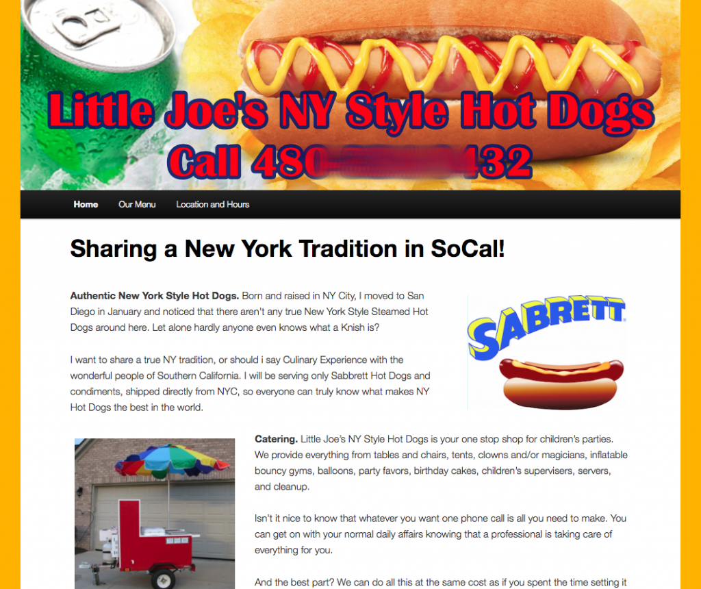 free website for hot dog carts
