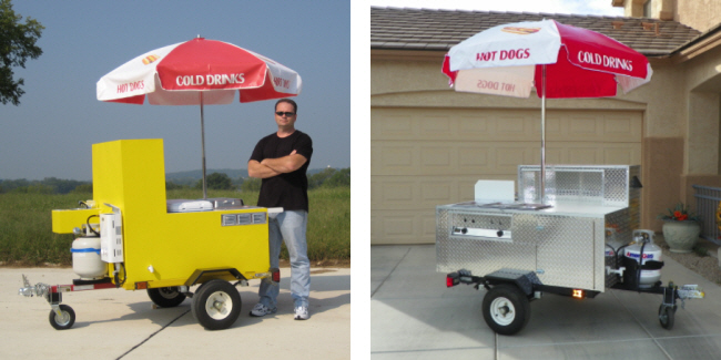 home made metal hot dog cart plans