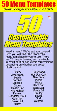 50 Custom Menu Templates