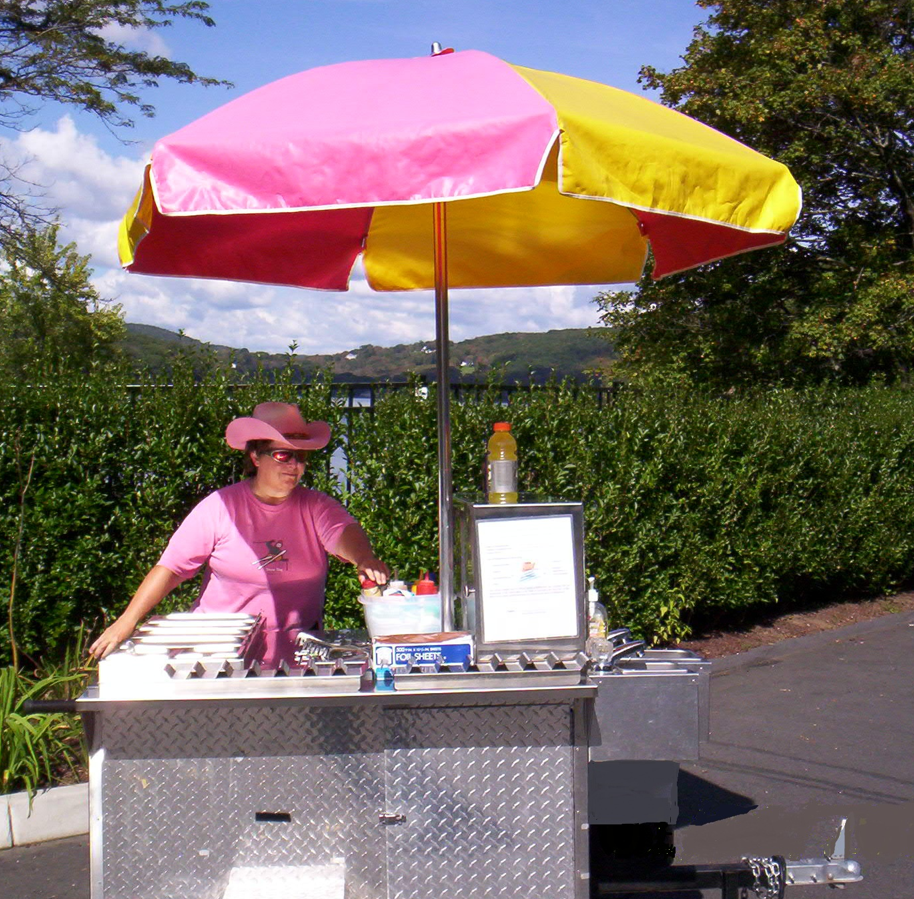 Dixie's Lakeside Lunch hot dog cart